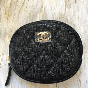Authentic BNIB CHANEL round zippy coin purse